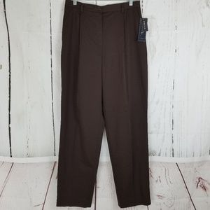 Jones New York Dress Pants Sz 10 Brown Straight